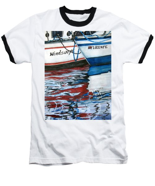 Baseball T-Shirt featuring the painting Windswept Reflections Sold by Lil Taylor