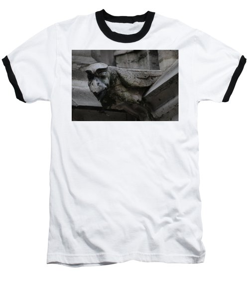 Winged Gargoyle Baseball T-Shirt by Christopher Kirby