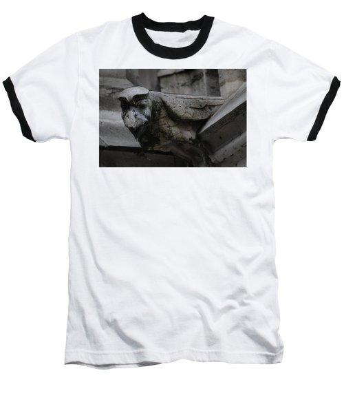 Winged Gargoyle Baseball T-Shirt