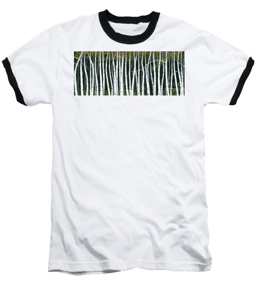 Baseball T-Shirt featuring the painting Winter Aspen 3 by Michael Swanson