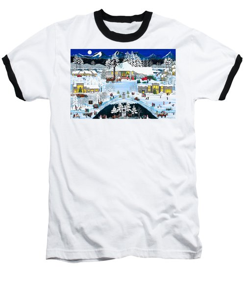 Winter At Black Butte Baseball T-Shirt