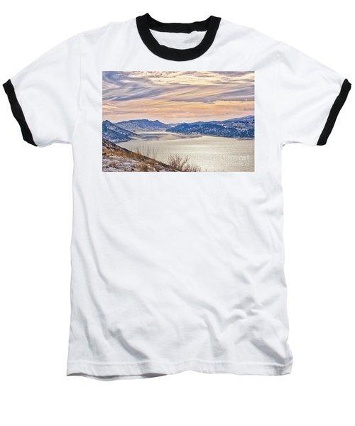 Winter At Horsetooth Reservior Baseball T-Shirt