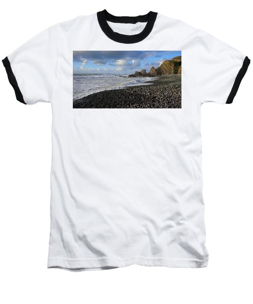 Winter At Sandymouth Baseball T-Shirt