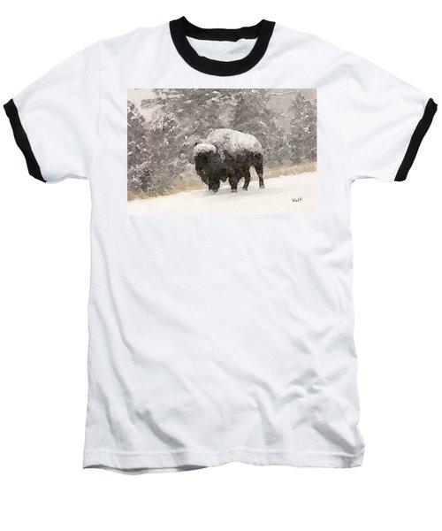 Winter Bison Baseball T-Shirt
