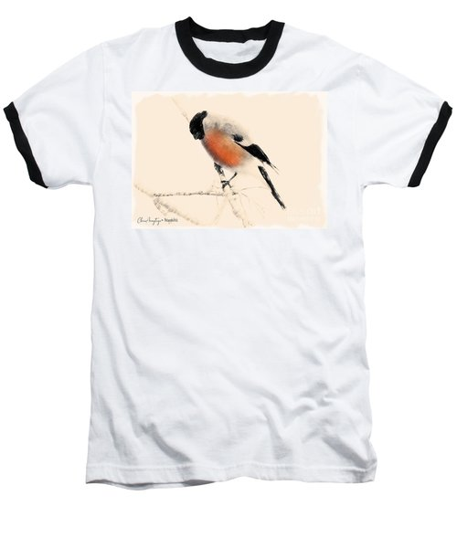 Winter Bullfinch Baseball T-Shirt