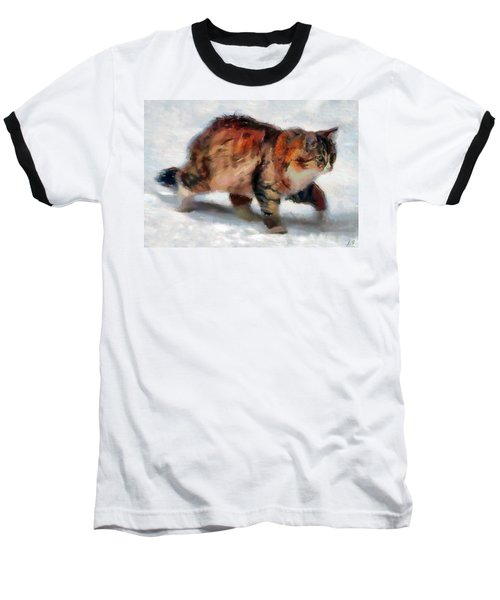 Winter Cat Baseball T-Shirt