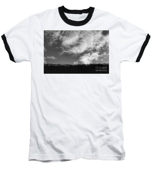 Winter Clouds Over The Delaware River Baseball T-Shirt