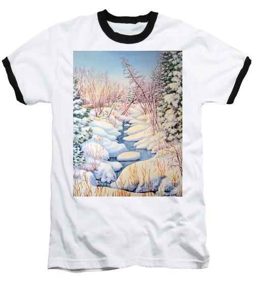 Winter Creek 1  Baseball T-Shirt