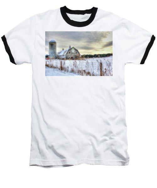 Baseball T-Shirt featuring the digital art Winter Days In Vermont by Sharon Batdorf