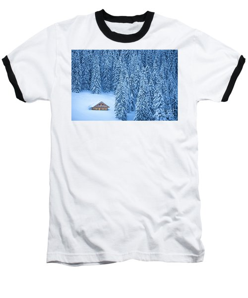 Winter Escape Baseball T-Shirt by JR Photography