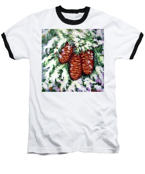 Winter Fir Cones Baseball T-Shirt