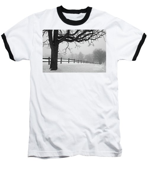 Winter Fog Baseball T-Shirt by Kevin McCarthy