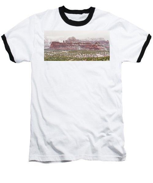Winter In Sedona Baseball T-Shirt