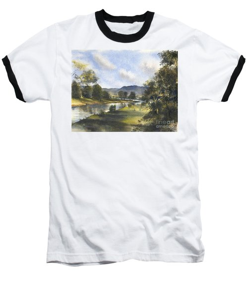 Baseball T-Shirt featuring the painting Winter In The Bellinger Valley by Sandra Phryce-Jones