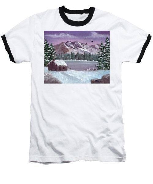Winter In The Mountains Baseball T-Shirt