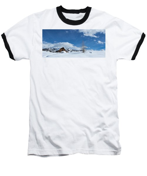 Winter In The Rockies Baseball T-Shirt by Sean Allen