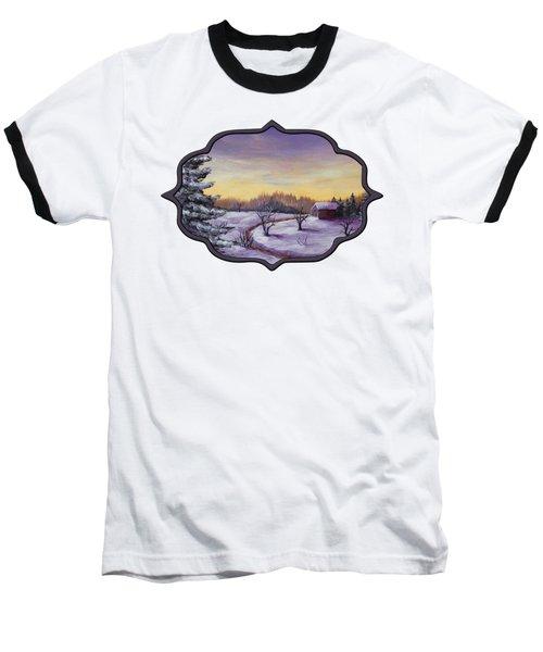 Winter In Vermont Baseball T-Shirt