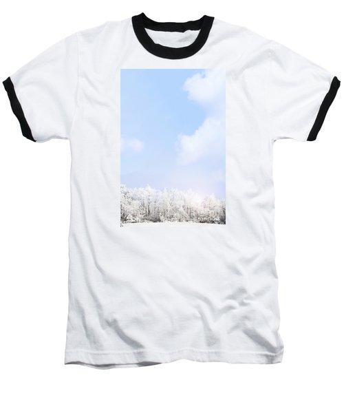 Winter Landscape Baseball T-Shirt by Stephanie Frey