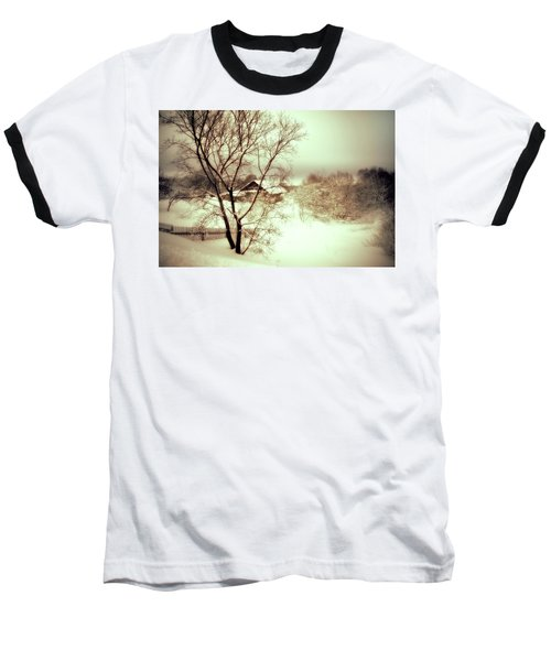 Winter Loneliness Baseball T-Shirt by Jenny Rainbow