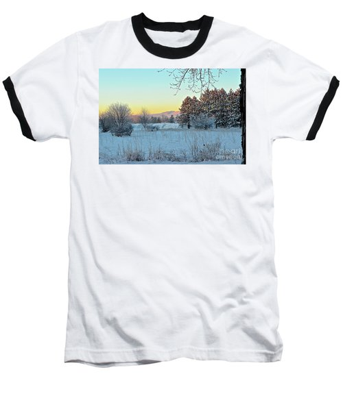 Winter On The Tree Farm Baseball T-Shirt