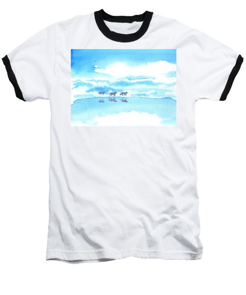 Winter Reflection Baseball T-Shirt