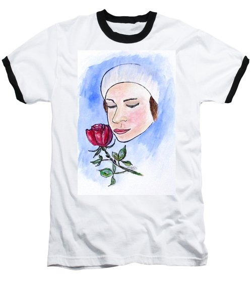 Winter Rose Baseball T-Shirt