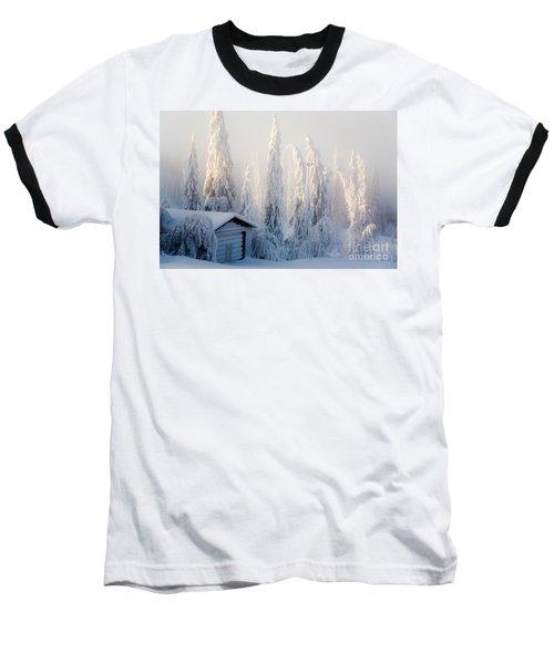 Winter Scene Baseball T-Shirt