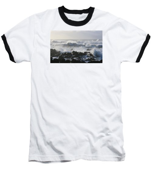 Baseball T-Shirt featuring the photograph Winter Sea by Jeanette French