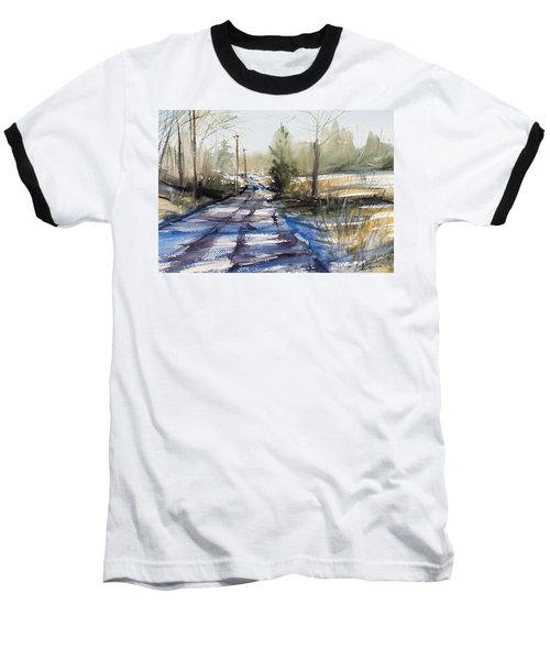 Winter Shadows  Baseball T-Shirt by Judith Levins