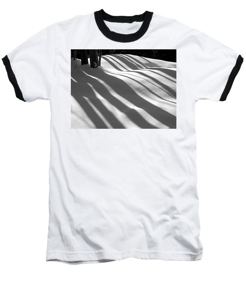 Winter Shadows Baseball T-Shirt