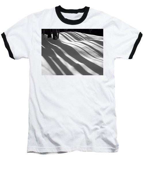 Winter Shadows Baseball T-Shirt