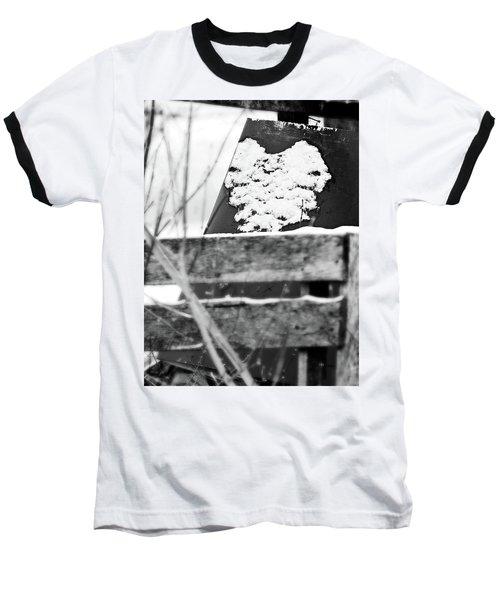 Winter Snow Heart Baseball T-Shirt