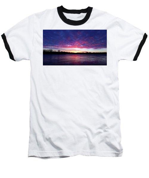 Winter Sunrise On The Wisconsin River Baseball T-Shirt