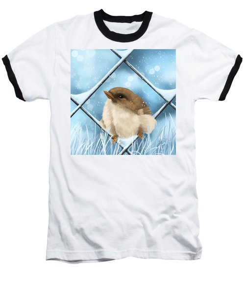 Baseball T-Shirt featuring the painting Winter Sweetness  by Veronica Minozzi