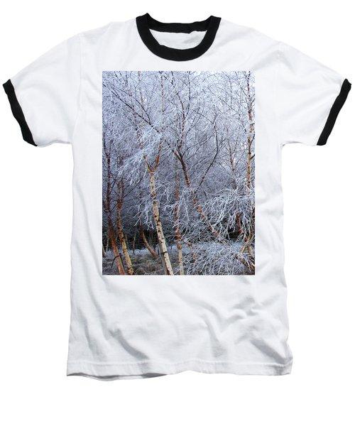 Winter Trees Baseball T-Shirt by Jacqi Elmslie