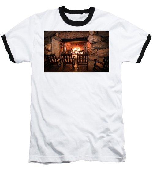 Winter Warmth Baseball T-Shirt by Karen Wiles
