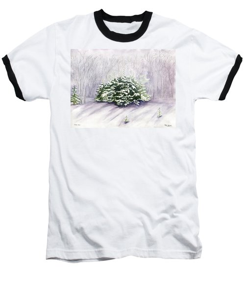 Baseball T-Shirt featuring the painting Winter Wind by Melly Terpening