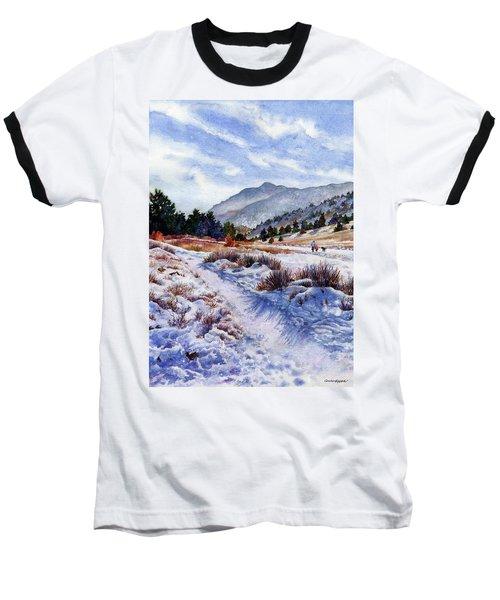 Winter Wonderland Baseball T-Shirt by Anne Gifford