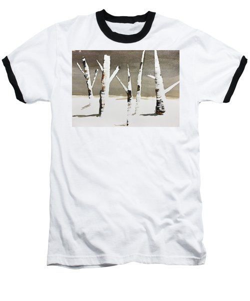 Winter Wood Baseball T-Shirt