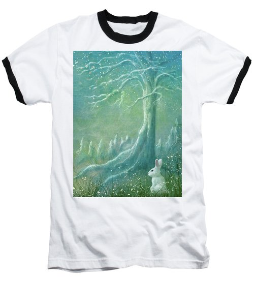 Baseball T-Shirt featuring the digital art Winters Coming by Ann Lauwers