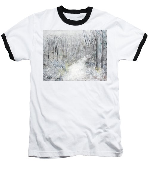 Baseball T-Shirt featuring the painting Winter's Day by Robin Maria Pedrero