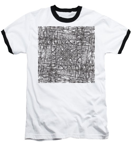 Wired Abstraction Baseball T-Shirt by Eleonora Perlic