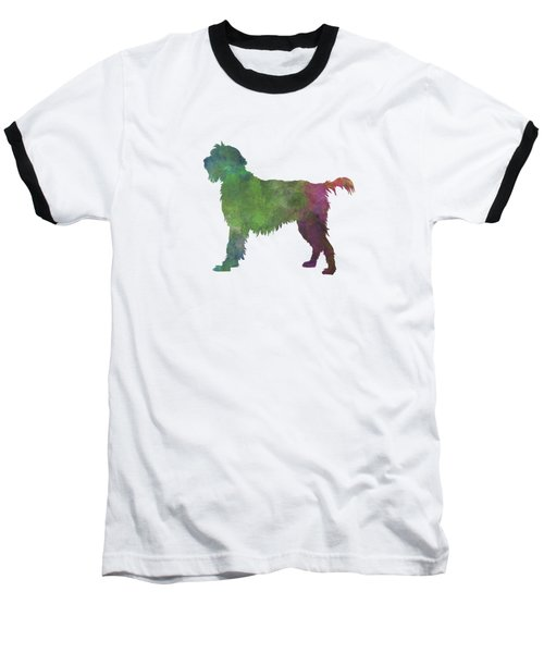 Wirehaired Pointing Griffon Korthals In Watercolor Baseball T-Shirt