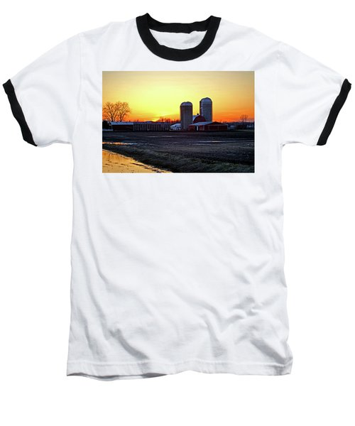Baseball T-Shirt featuring the photograph Wisconsin At Sunset by Jean Haynes