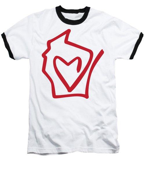 Wisconsin Love Baseball T-Shirt