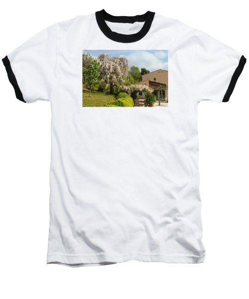 Baseball T-Shirt featuring the photograph Wisteria by Richard Patmore