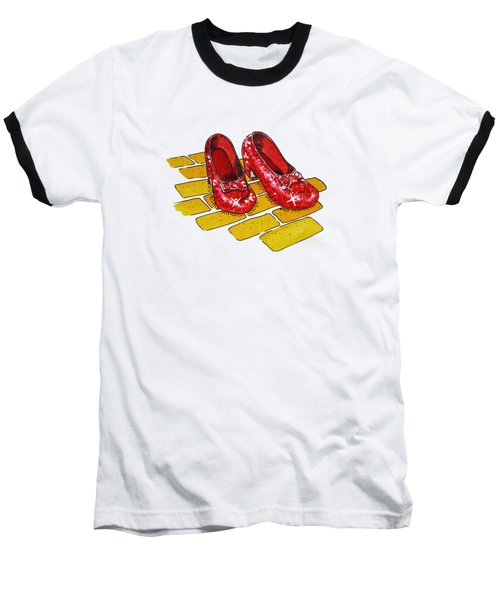 Wizard Of Oz Ruby Slippers Baseball T-Shirt