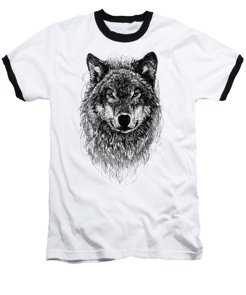 Wolf Baseball T-Shirt by Michael Volpicelli