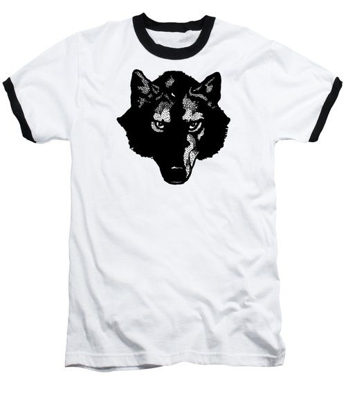 Wolf Tee Baseball T-Shirt by Edward Fielding