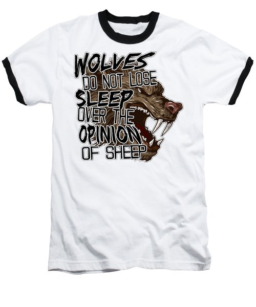 Wolves And Sheep Baseball T-Shirt by Michelle Murphy